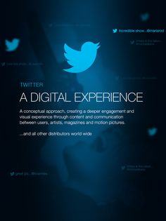 Twitter. A Digital Experience by Fred Nerby, via Behance