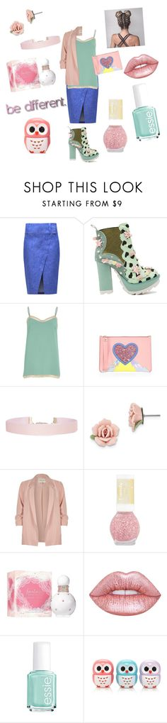 """""""be different"""" by gigiglow ❤ liked on Polyvore featuring 10 Crosby Derek Lam, Irregular Choice, River Island, Sophie Hulme, Humble Chic, 1928, Fantasy, Lime Crime, Essie and Forever 21"""
