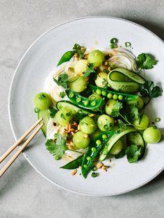 Melon Rice Noodle Salad