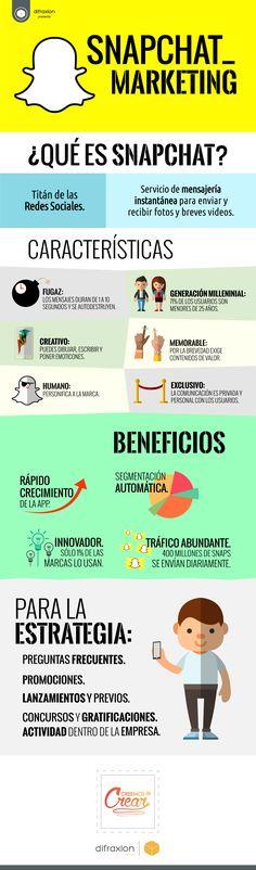 SnapChat Marketing #infografia #infographic #marketing