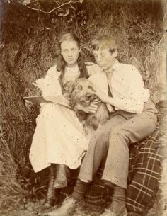 Vanessa Bell with her youngest brother, Adrian, (Virginia Woolf's sister)
