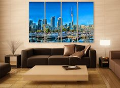 Toronto City Canvas Print 3 Panels Print Wall Decor Wall Art Canada Cityscape Photography Print for Home and Office Wall Decoration by ZellartCo TAGS canada abstract art wall art city photography canvas print urban city canvas photo wall decor home decor room decor wall painting photo print cityscape canvas