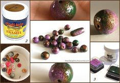 "bead coating tutorial  * if like me you've got some ""ugly"" beads this is a good cover-up:)"