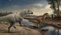 Neovenator and Eotyrannus by Compiler