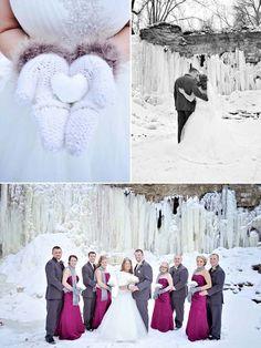 Winter Wedding Wonderland   #Snow #Wedding   Bridal Party In The Snow   Winter Wedding Inspiration