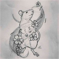 Put a bonnet on her. Country mouse tattoo