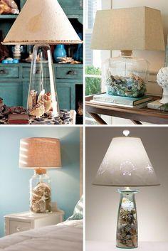 Ideas para hacer lamparas con conchas