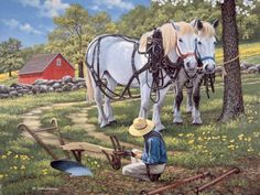 Art Public auctions: Early American Art – Buy Abstract Art Right Farm Pictures, Susan Wheeler, Farm Art, Thomas Kinkade, Buy Art Online, Country Art, Marjolein Bastin, Naive Art, Horse Art