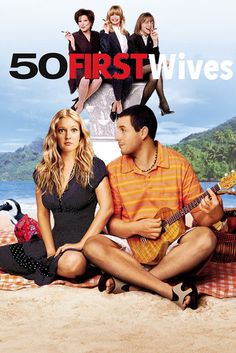 50 First Dates (Widescreen) on DVD from Sony Pictures Home Entertainment. Directed by Peter Segal. Staring Drew Barrymore, Adam Sandler, Rob Schneider and Sean Astin. More Comedy, Romance and Movies DVDs available @ DVD Empire. Drew Barrymore, See Movie, Movie Tv, Movies Showing, Movies And Tv Shows, Adam Sandler Movies, Bon Film, Movies Worth Watching, Romantic Movies