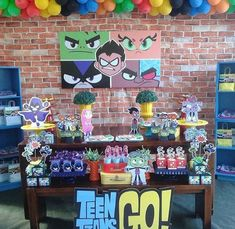 12 ideas de jóvenes titanes 4th Birthday Parties, Birthday Party Decorations, Boy Birthday, Batman Spiderman, Diy Barbie Clothes, Time Kids, Kids Party Themes, Teen Titans Go, Childrens Party