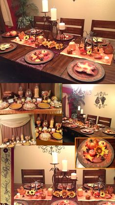Thanksgiving decorations, fall Decor, Fall decorations, thanksgiving table and candy buffet. Home sweet home. How I Love Fall Fall Decorations, Thanksgiving Decorations, Thanksgiving Table, Candy Buffet, Autumn Home, Table Settings, Sweet Home, Decorating Ideas, Party Ideas
