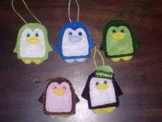 Felt Penguins - with pattern - OCCASIONS AND HOLIDAYS