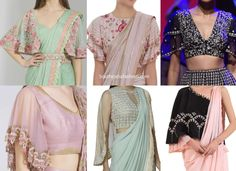 7 New Cape Style Blouse Designs To Try With Sarees; sari blouse with cape sleeves, latest 2020 blouse designs, new choli designs Choli Designs, Sari Blouse Designs, Designer Blouse Patterns, Lace Dress Styles, Blouse Styles, Trendy Sarees, Embroidered Blouse, Saree Blouse, Indian Dresses