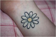simple daisy tattoo