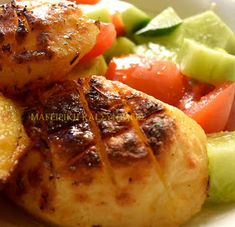 ΜΑΓΕΙΡΙΚΗ ΚΑΙ ΣΥΝΤΑΓΕΣ: Πατάτες στο φούρνο λουκούμι !!!! Baked Potato, Potatoes, Chicken, Meat, Baking, Ethnic Recipes, Food, Potato, Bakken