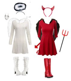 """""""Angel and Devil costumes"""" by whoviangirl22 ❤ liked on Polyvore featuring Funtasma and Doublju"""