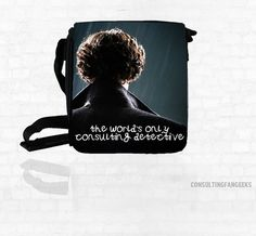 """SHERLOCK   """"The Worlds Only Consulting Detective""""  Small Messenger Bag Great Gift"""