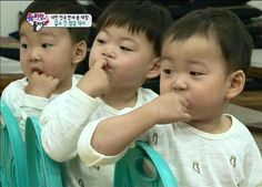 Daehan, Minguk, Manse ♡ The Return of Superman Cute Kids, Cute Babies, Baby Kids, Baby Boy, Song Il Gook, Triplet Babies, Superman Kids, Man Se, Song Daehan