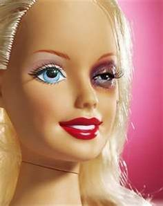 Black eye Barbie!  True story. Black eyes are not so cute. Staying strong and moving on.