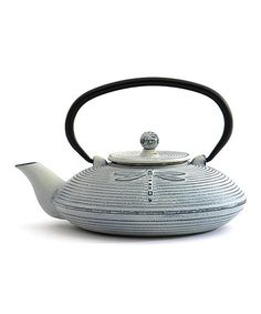 Loving this White Dragonfly Cast Iron Teapot on #zulily! #zulilyfinds