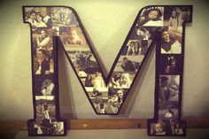 pinterest ideas for monogram | made this monogram letter for my sister in law for Christmas and was ...