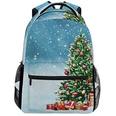 Kids Backpack Bag Christmas Tree with Present Winter Snowflake for Girls  Boys School Daypacks   You can get additional details at the image link. 599f0f7db9253