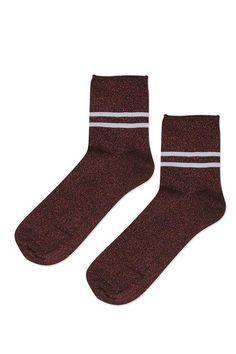 Glitter Sporty Ankle Socks