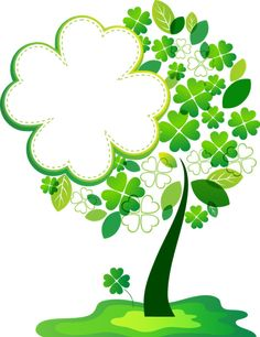 ST. PATRICK'S DAY TREE ~ Luky four leaf clover