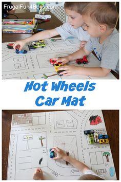 Easy Poster Board Hot Wheels Car Play Mat