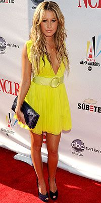 yellow & black -Ashley Tisdale