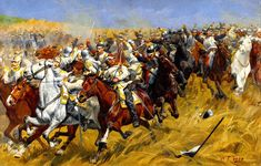 Cavalry combat between Prussian and French Cuirassiers, Franco-Prussian War