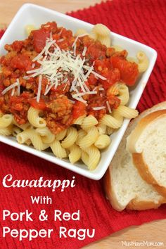 Cavatappi With Pork & Red Pepper Ragu Recipe