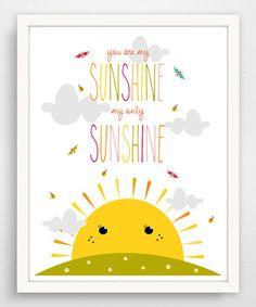 Look what I found on #zulily! Bees & Butterflies 'Sunshine' Print #zulilyfinds