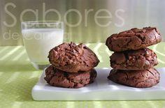 Bolachas de chocolate com pepitas