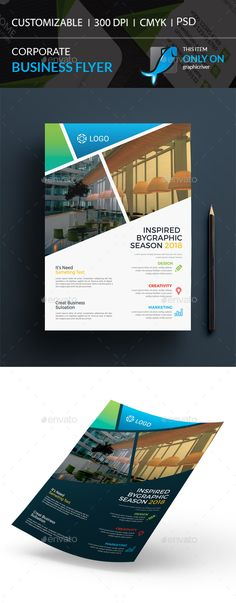 Buy Corporate Flyer by I-Getup on GraphicRiver. Corporate Flyer, Corporate Business, Print Design, Graphic Design, Business Flyer Templates, Creative Design, Flyers, Ads, Marketing