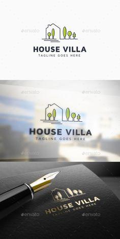 House Villa Logo Template: Building Logo Design Template by i_Russu. Real Estate Logo Design, Real Estate Branding, Cheap Logo, Building Logo, Hotel Logo, Logo Real, Home Icon, Great Logos, Professional Logo Design