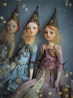 Купить Подвижная кукла Флёр - винтажный стиль, волшбница, кукла фея, фея, новогодний подарок
