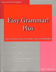 Easy Grammar Plus Revised Easy Grammar, Middle School, High School, Homeschool Curriculum, Level 8, Teaching, Retail Price, Books, Journey