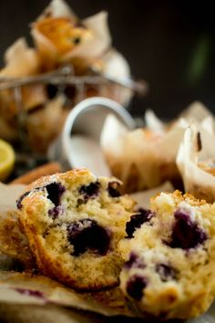 lemon blueberry muffins 6