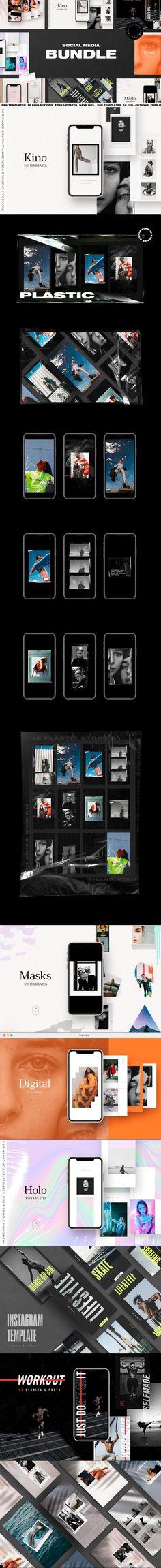 BUNDLE Social Media Pack #bleed #holo #dark #letter #crush #instagramstory #instadesign #instabundle #InstagramFollowers #plasticwraptexture #instagram #postcard #macinterface #plasticwrap #socialmediabundle #InstagramStory #InstagramStoryIdeas #realistic Instagram Design, Instagram Tips, Instagram Story, Workout Template, Sports Templates, Fashion Patterns, Instagram Templates, Instagram Influencer, Text Style