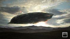 Aliens, Spaceship, Airship