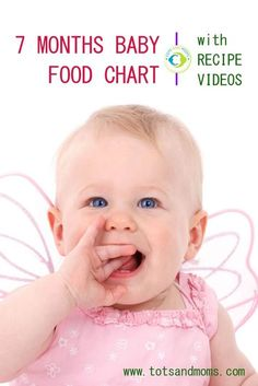 7 Months Indian Baby Food Chart & Meal Planner with Recipe Videos