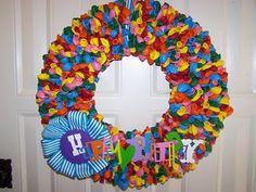 Happy Birthday Wreath how to - uses balloons