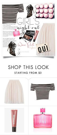 """""""Summer Edition/Girls Night Out"""" by clotheshawg ❤ liked on Polyvore featuring Bobbi Brown Cosmetics, Express, Victoria's Secret PINK, Pour La Victoire and girlsnightout"""