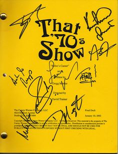 That 70's Show Autographs Full Cast Hand Signed Script Kelso's Career COA