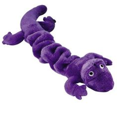 Zanies Plush Bungee Geckos Dog Toy, 16-Inch, Purple - Chew Toys #Dogs #Dog #Pets #Pet #Gift #Gifts #Christmas #Holiday #Holidays #Present #Presents #Accessories #Dog #Dogs #Chew #Toys #Toy