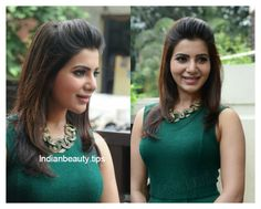 samantha prabhu hairstyles, heroine samantha hairstyles, samantha ruth prabhu hair styles, samantha's hairstyles with sarees, indian party wear hairstyles South Indian Hairstyle, Indian Party Hairstyles, Bollywood Hairstyles, Best Wedding Hairstyles, Celebrity Hairstyles, Trendy Hairstyles, Traditional Hairstyle, Indian Party Wear, Layered Hair