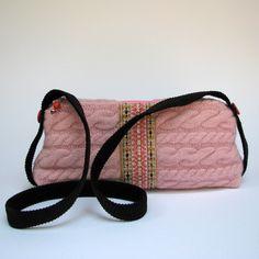 A Little Bit Retro Pink Cable Purse. $45.00, via Etsy.