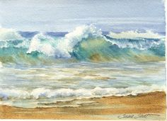 Susie Short's Watercolor Splashes & Splatters: New Sand 'n Surf Watercolor Triad