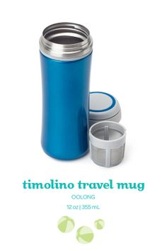 This leakproof, bright blue travel mug keeps your tea ice cold for hours.
